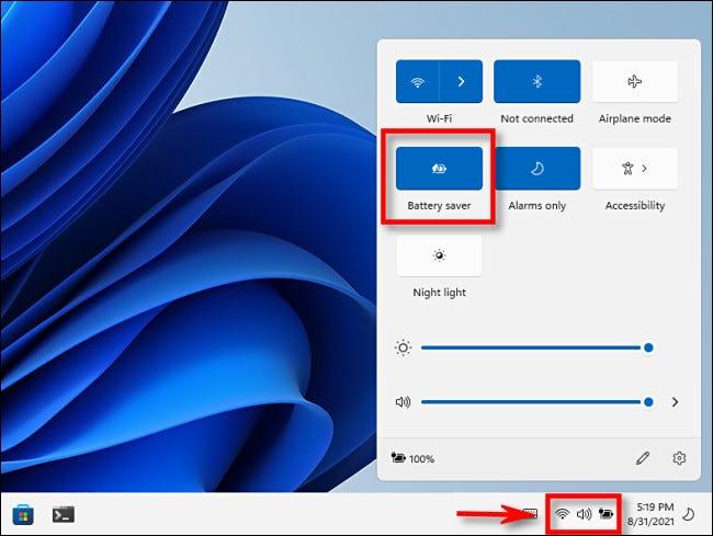 Windows 11 pil tasarruf modu